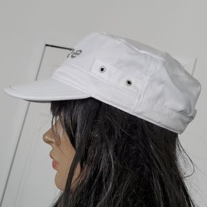 bebe Accessories - Bebe white bling military hat NWOT  adjustable